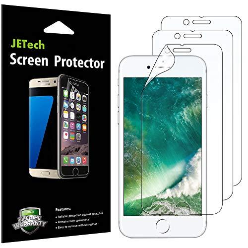 JETech Schutzfolie für iPhone SE 2020, iPhone 8, iPhone 7, PET Displayschutzfolie, HD Klar, 3 Stück