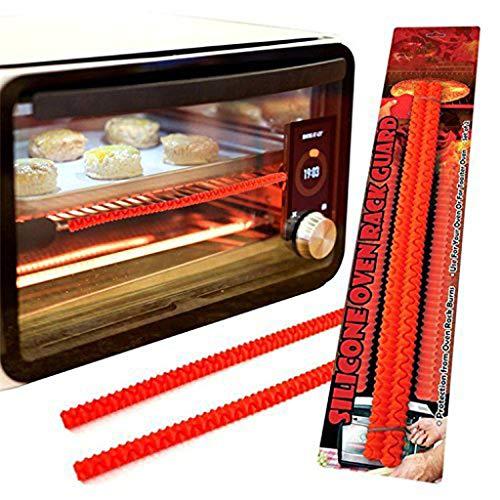 DEtrade Mikrowelle Silikon Isolierung Gehäuse Berührungslose Silikon-Ofenkantenschoner Isolierhülle (Red)