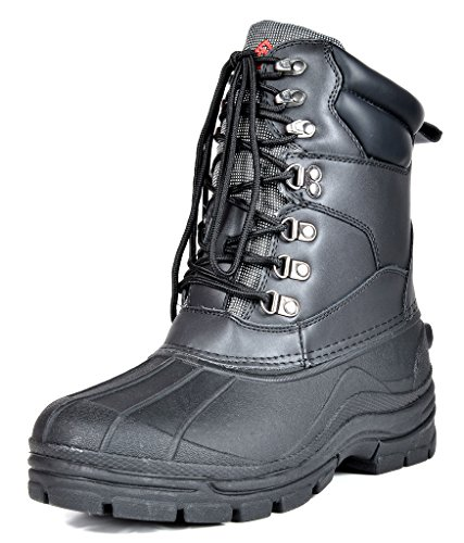 DREAM PAIRS Men's Denver-1 Black Insulated Waterproof Winter Snow Boots Size 12 M US