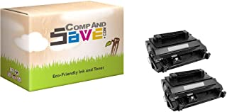 CompAndSave Replacement for HP 81A (CF281A) 2-Pack Black Toner Cartridges