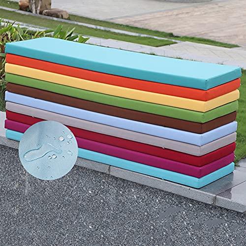 MOTT Wasserfestes Bank-Sitzkissen, für drinnen und draußen, Bankkissen, Gartenbankauflage für Essbank/Terrassenmöbel/Schaukelstuhl, 5 cm dick