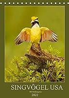 Singvoegel USA (Tischkalender 2022 DIN A5 hoch): Monatskalender, Hochformat, 12 Singvogelarten aus den USA (Monatskalender, 14 Seiten )