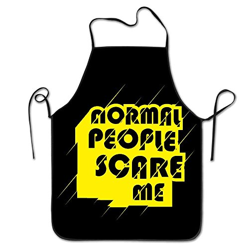 zhengshaolongG Delantal Chef Kitchen Cooking Delantal Bib Normal People Scare Me Letter Printing Cool