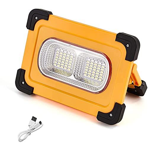 WOERD Focos LED Exterior, Luz de Trabajo LED Recargable, Lámpara LED para Exteriores 4 Modos Prueba de Agua Lámpara de Proyector con Batería Incorporada para Terraza Jardín Patio Garaje