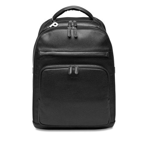 Picard Luis schwarz 6772, Leder Rucksack Daypack mit Notebookfach 13,3-15,6 Zoll Businessrucksack Laptoprucksack Lederrucksack Reiserucksack