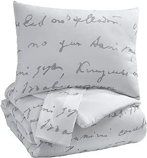 Signature Design by Ashley Adrianna Queen Comforter, White/Gray