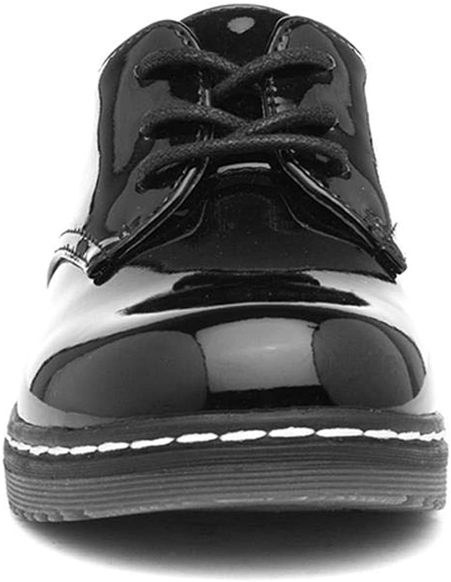 Lilley Girls Black Patent Lace Up Shoe