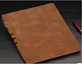 Durable Office Supplies, Leather Notebook Fun Office Supplies, Business Plan Jersh-school&office Supplies for Notepad Office School Stationery Gift Office (Color : Light brown, Size : A5)