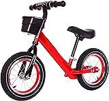 12 bicicletas de equilibrio para niños que caminan entrenamiento niñas y niños juguetes para niños de 2 a 6 años de edad