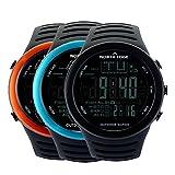ANZQHUWAI Männer Digitaluhren Outdoor-Uhr Uhr Angeln Wetter Altimeter Barometer Thermometer...