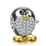 NINAQUEEN Charm para Pandora Charms Plata 925 Pingüino Regalos Originales Mujer Niña Regalos de Cumpleaños Aniversario para Ella para Madre Novia Esposa, con Embalaje de Caja Joyería