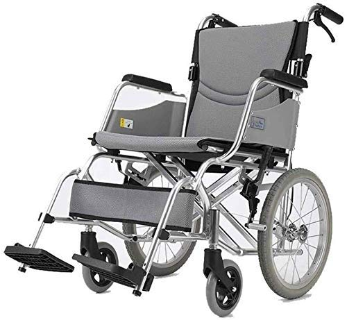 Wheelchairs Wheelchair Self-propelled, Lightweight Folding Manual Adjustable Foot Pedal Sturdy And Stable Double Seat Cushion Senior/disabled Scooter Trolley
