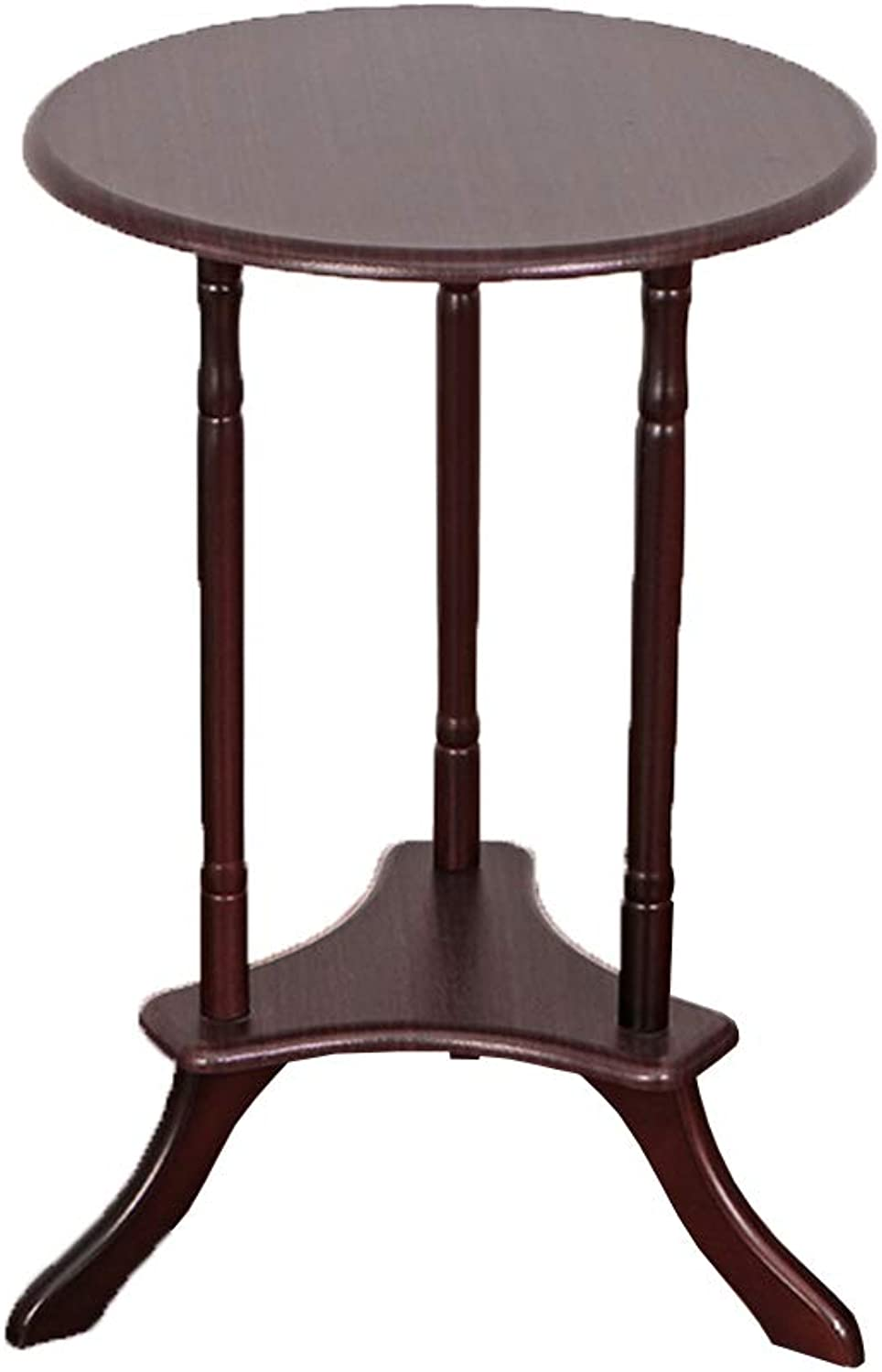 LVZAIXI - Wooden Table end Bedside Table - Mahogany,59h x 39.5w x 39.5d cm   23.6h x 15.7w x 15.7d inches