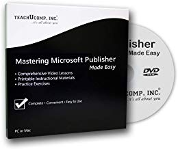 $21 » Mastering Publisher Made Easy Training Tutorial v. 2010 through 2000 – How to use Microsoft Publisher Video e Book Manual Guide. Even dummies can learn step by step from this total DVD for MS Publisher, with Introductory - Advanced material from Professor Joe