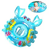 Crystaller Swimming Baby Inflatable Baby Swimming Float Ring Children Waist Float Ring Inflatable Floats Pool Toys Swimming Pool Baby Swimming Ring Safety Handles Kids Toddler