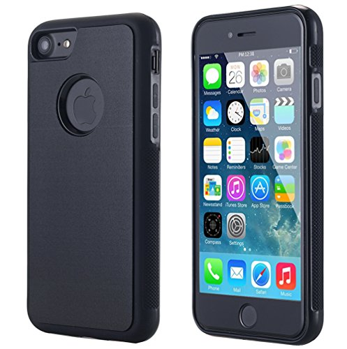 iPhone 8/iPhone 7 Case, Nano Suction Anti-Gravity Case for Apple iPhone 8/iPhone 7(4.7 inch), Hands Free Self Sticky to Glass, Tile, Car GPS, Most Smooth Surface (Black)