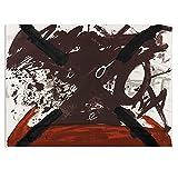kakyd Arte De Pared Abstracto Antoni Tapies-Ohne Titel Pintura para Sala De Estar Decoración del Hogar Pintura Al Óleo sobre Lienzo Pintura De Pared-50X70Cmx1 Sin Marco