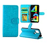 【Mobile Phone Case】Replace the Old, Damaged for Google Mobile Phone Shell 【Fashion】Fashionable Mobile Phone Case Can Make Your Phone More Fashionable Mobile Phone Protection Case For Google Pixel 4a 5G Crazy Horse Texture Leather Horizontal Flip Prot...