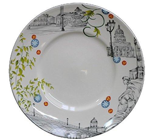 Faïencerie de Niderviller ~ Assiette Plate Paris Ø27,5cm faïence - Lot de 4