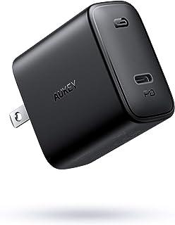 AUKEY 充電器 USB-C急速充電器 アダプタ 30W 最小・最軽量クラス 折畳式 / PD3.0対応 iPhone 12 / 12 Pro / 12Pro Max/iPhone 12Mini /iPhone 11/11 Pro/XR/8、...