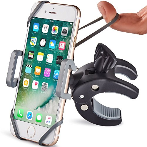 Metal Bike & Motorcycle Phone Mount - The Only Unbreakable Handlebar Holder for iPhone, Samsung or...
