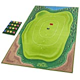 GoSports Chip N' Stick Golf Game - Includes 1 Chip N' Stick Game Mat, 16 Grip Golf Balls, and Chipping Mat, Multi
