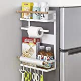 Pusdon Magnetic Fridge Spice Rack, Multi-purpose Storage Organizer for Kitchen Refrigerato...
