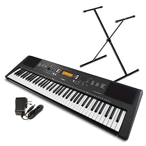 Yamaha PSR-EW300 SA 76-Key Portable Keyboard Bundle with Stand and Power Supply (Renewed)
