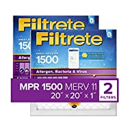 Filtrete 20x20x1 Smart Replenishable AC Furnace Air Filter, MPR 1500, Allergen, Bacteria & Virus, 2-Pack