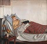 Pintura DIY para adultos Michael Ancher famosa pintura de la chica enferma por número Kit sobre lienzo para principiantes