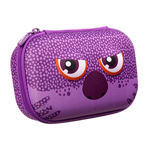 ZIPIT Wildlings Pencil Case/Pencil Box/Storage Box, Purple