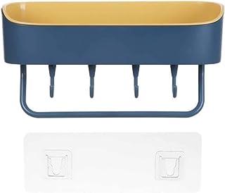 台所棚 浴室用ラック 粘着式 シャワーラック お風呂 ラック 壁 棚 洗面所ラック ホルダー 壁掛けラック 調味料 収納ラック (紺)