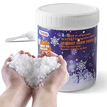 Instant Snow Powder - Makes 10 Gallons of Artificial Snow - Perfect for Christmas Tree Decoration Village Displays Holiday and Winter Crafts and Fake Snow Play and Great for Cloud Slime