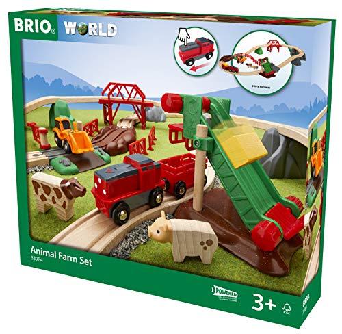BRIO 33984 Großes Bahn Bauernhof-Set