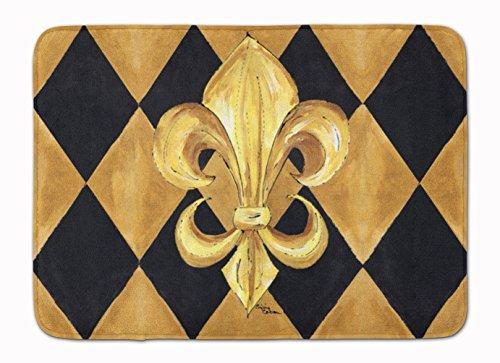 Caroline S Treasures 8125-rug Noir et Doré Fleur de Lis New Orleans Tapis de Sol, 48,3 x 68,6 cm, Multicolore