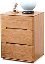 MEI XU Nightstand Bedside Table, Wooden Rounded Natural Texture Three-Bed Side Table Storage Storage Bedside Table, Suitab...