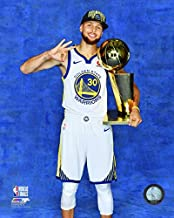 Stephen Curry Golden State Warriors 2018 Championship Trophy Photo (Size: 8