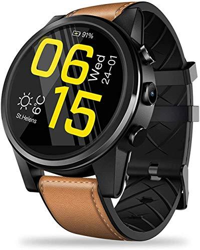 Exquisito reloj inteligente de 1 + 16 GB de memoria 4G Entretenimiento llamada Smart Card Reloj con ECG/PPG/Monitor de ritmo cardíaco Mensaje Boletín Monitor de sueño Marrón Moda/Marrón Marrón