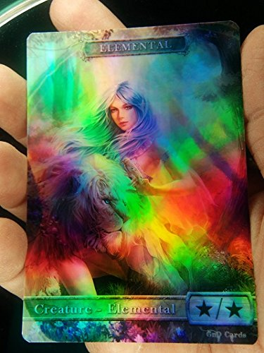 GnD Cards 1x G/W Elemental #4 FOIL Laminated Full Altered Tokens MTG(for Voice of Resurgence)