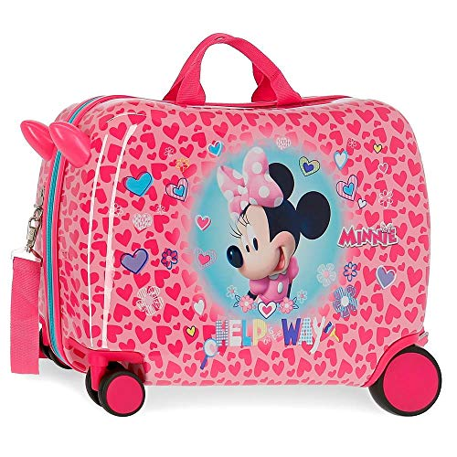 Disney Minnie Help on the day Kinder-Koffer Rosa 50x38x20 cms Hartschalen ABS Kombinationsschloss 34L 2,1Kgs 4 Räder Handgepäck