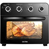 OSTBA Air Fryer Oven 1700W Multifunctional Convection Toaster Oven Combo Convection Toaster, Bake and Rotisserie, 6 Accessories with Recipe Cookbooks, Double Glass Oven Door, Keep Warm, 24QT, Black