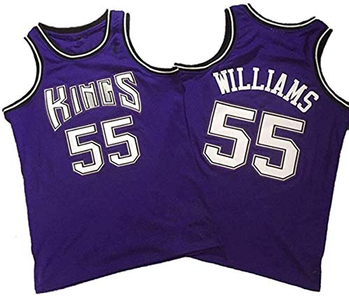 BPZ Baloncesto NBA Men's Jersey, Jason Williams 55# Sacramento Kings Jerseys, NBA Basketball Jersey Cómoda Ropa Deportiva Camiseta,4,L(175~180CM/75~85KG)