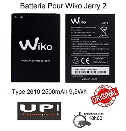 Batería original Wiko tipo 2610, 2500 mAh, 9,5 Wh, para Wiko Jerry 2