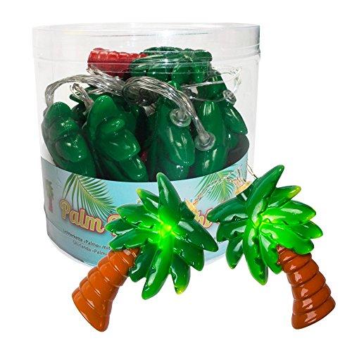 Palmen Girlande Lichterkette 10 LEDs batteriebetrieben Deko Party Licht Tropical Sommer
