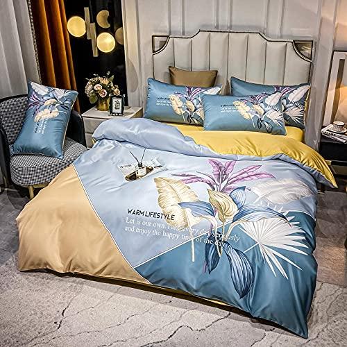 Bedding-LZ Set Copripiumino Letto Singolo,Set di Nuovo Set di Quattro Pezzi di Seta Lavaggio Acqua-Volare_1,5 M di Letto (4 Pezzi)