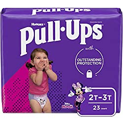 Pull-Ups Learning Designs Girls' Training Pants, 2T-3T, 23 Count