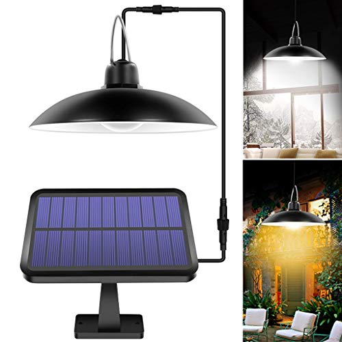 QIYUE Solar Shed Lights Outdoor Indoor 16 LED Solar Pendant Light Lamp For Camping Waterproof Lighting For Garden Yard Decoration (Color : Warm white)