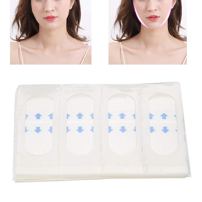 受取人信頼性のある請求40枚 顔のステッカー Vライン フェイス美容ツール 薄型テープ