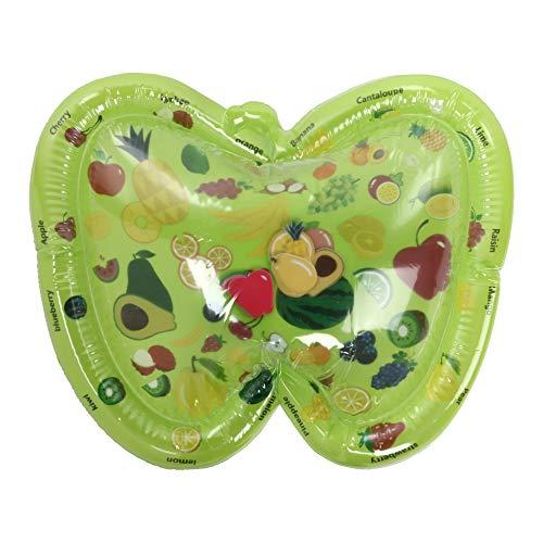 Tbest Colchoneta de Agua Inflable, Alfombra de Agua Inflable PVC Multifuncional Patrón de Frutas Plegable Cojín Infantil para bebés Cojín de Agua Inflable Cojín de Agua Inflable Plegable
