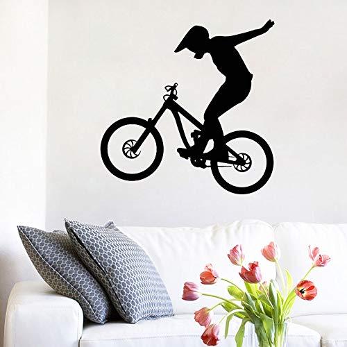 Moto Calcomanía de pared Bicicleta Bicicleta Deporte Pegatinas de pared Decoración del hogar Niños Decoración de la habitación de los niños Guardería Arte de la pared Murales Papel tapiz A6 42x42cm